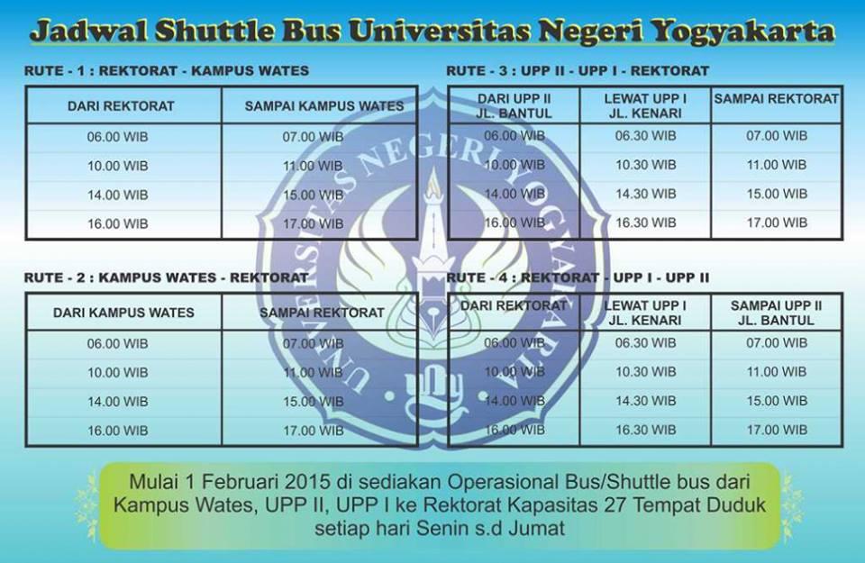 jadwal bus UNY