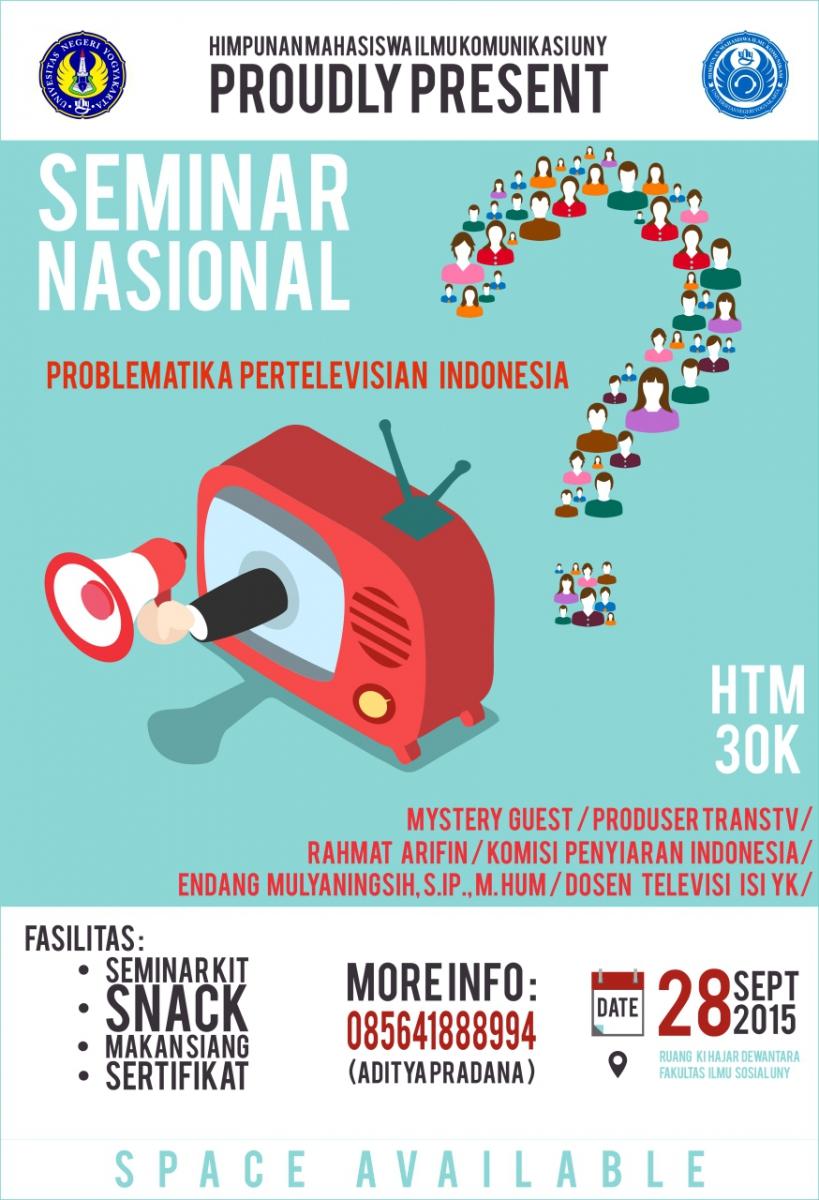 Seminar Nasional Pertelevisian HIMAKOM UNY