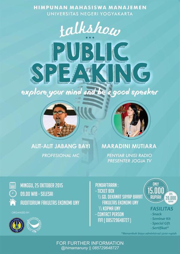 Talkshow Public Speaking