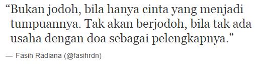 fasih radiana love life tumblr quote