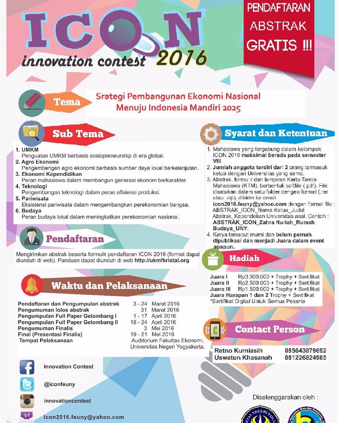 Nasional Innovation Contest ICON 2016 1
