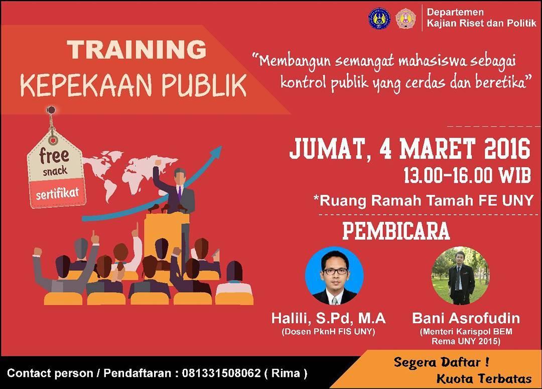 Training Kepekaan Publik