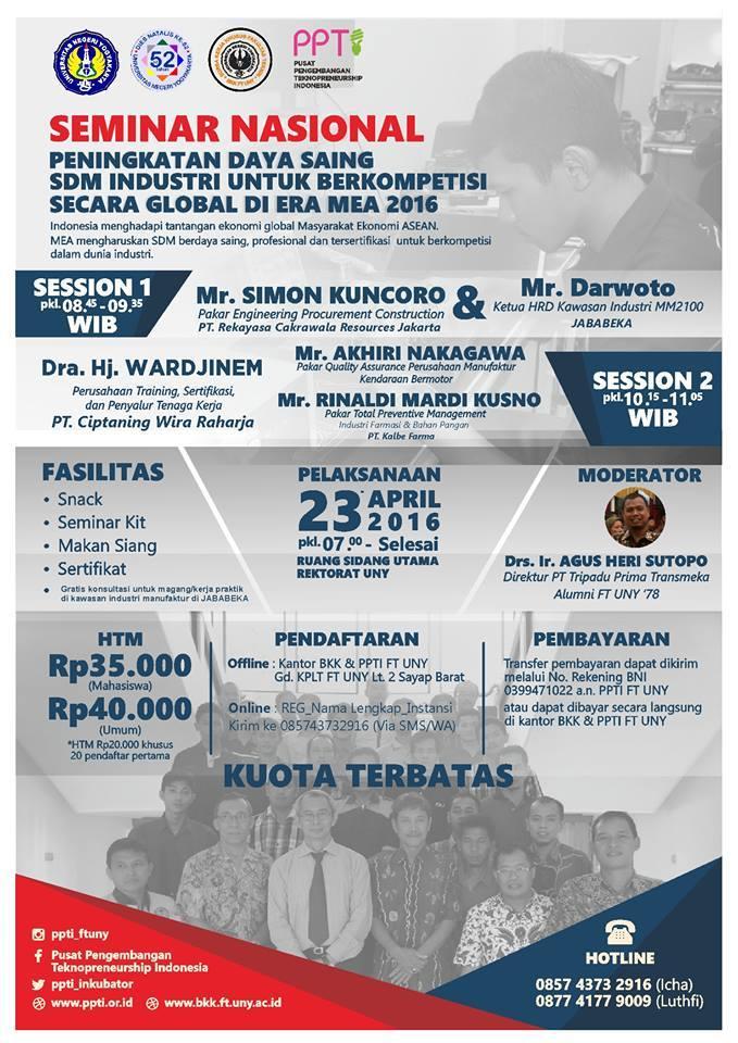 Seminar Nasional PPTI dan BKK