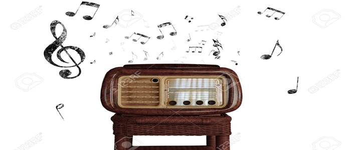 23905592-Abstract-vintage-music-notes-with-old-radio-Stock-Photo-music