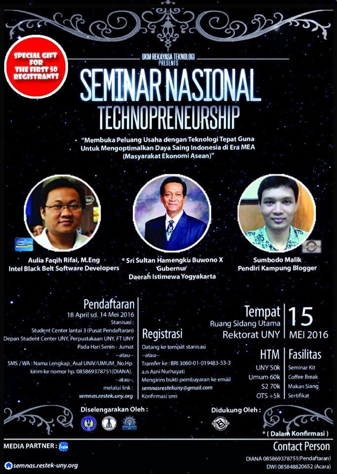 Seminar Nasional Technopreneurship
