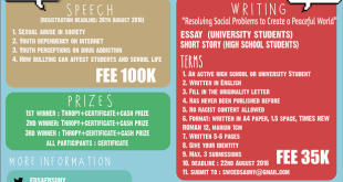 SPEECH AND WRITING COMPETITION