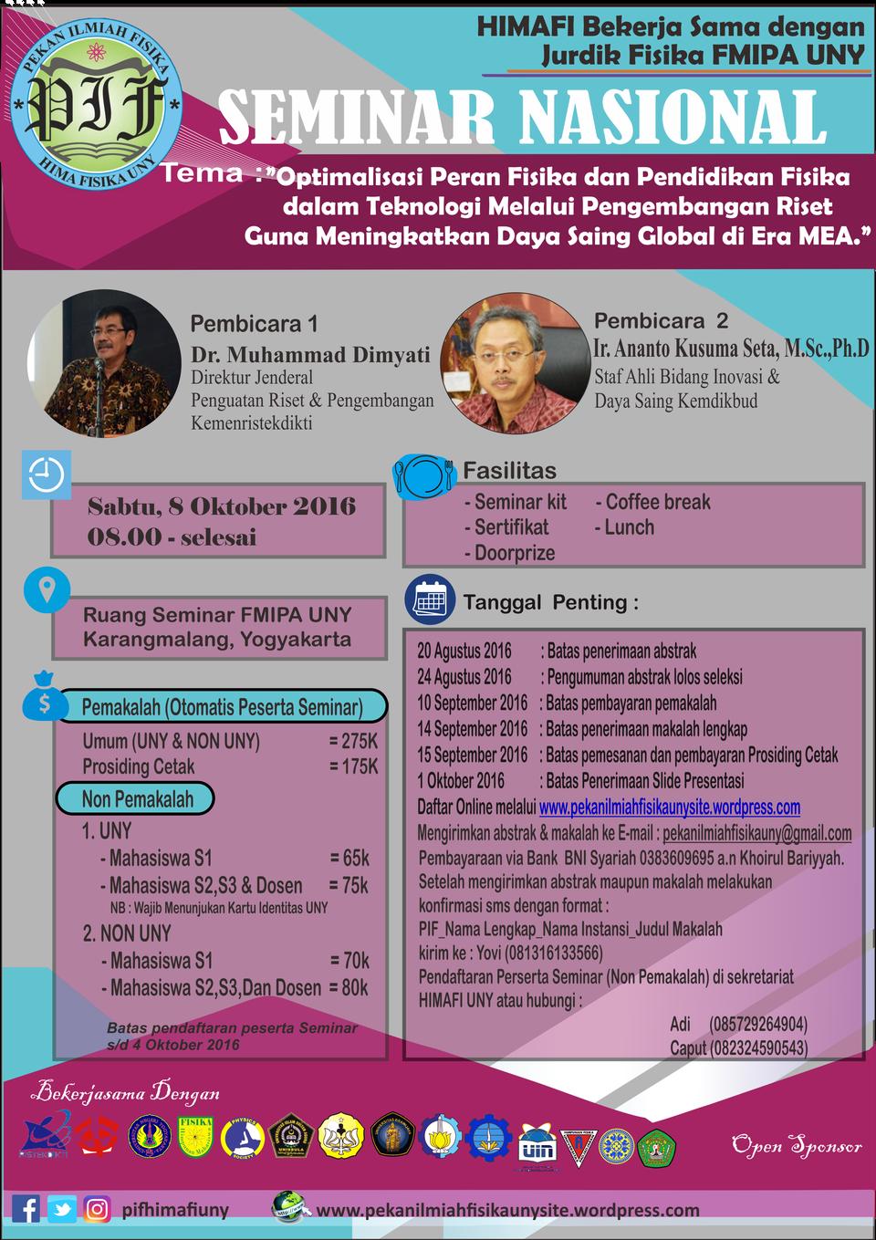 EMINAR NASIONAL FISIKA 2016