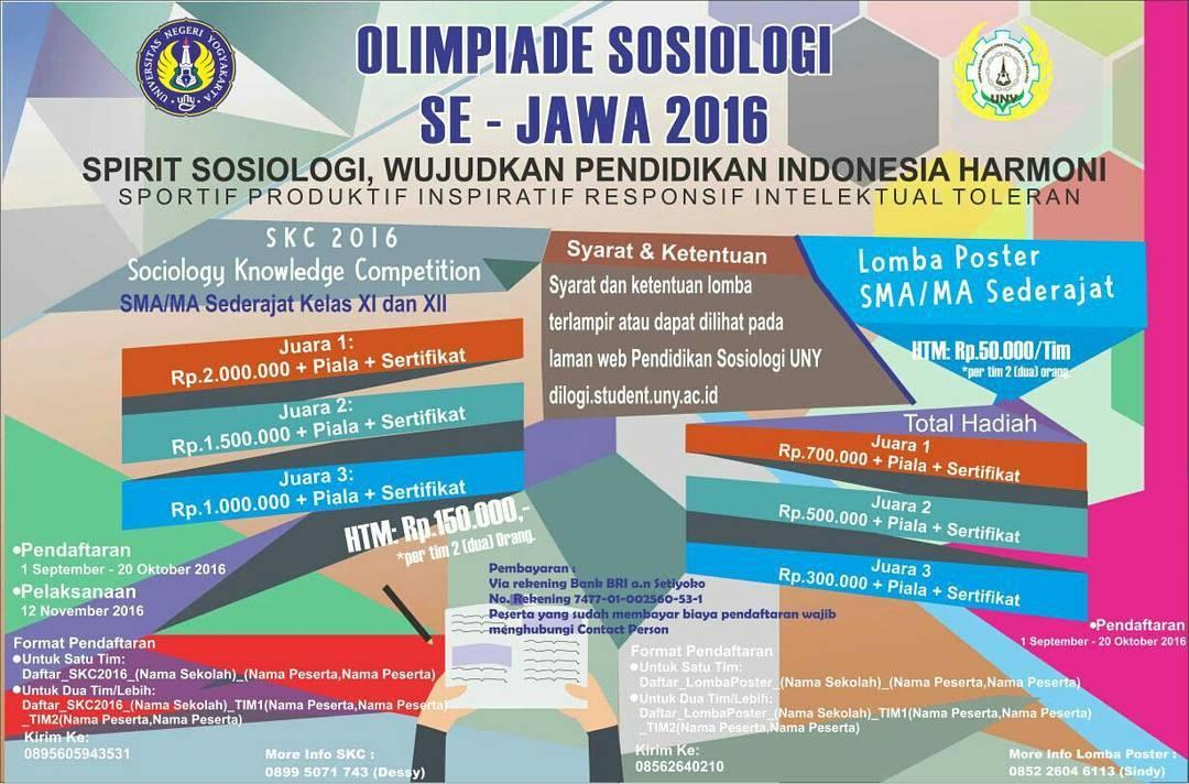 Olimpiade Sosiologi Tingkat Sma Ma Se Jawa 2016 Uny Community