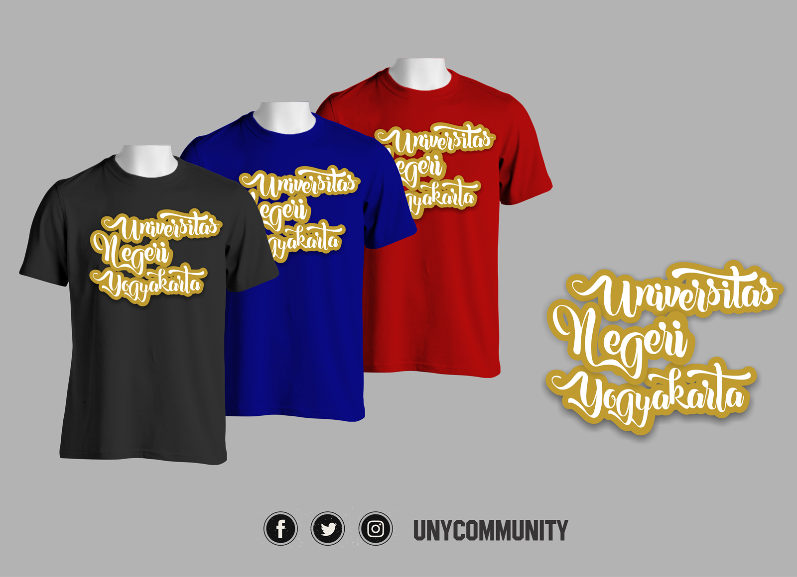 Kaos Universitas Negeri Yogyakarta 2017  UNY COMMUNITY